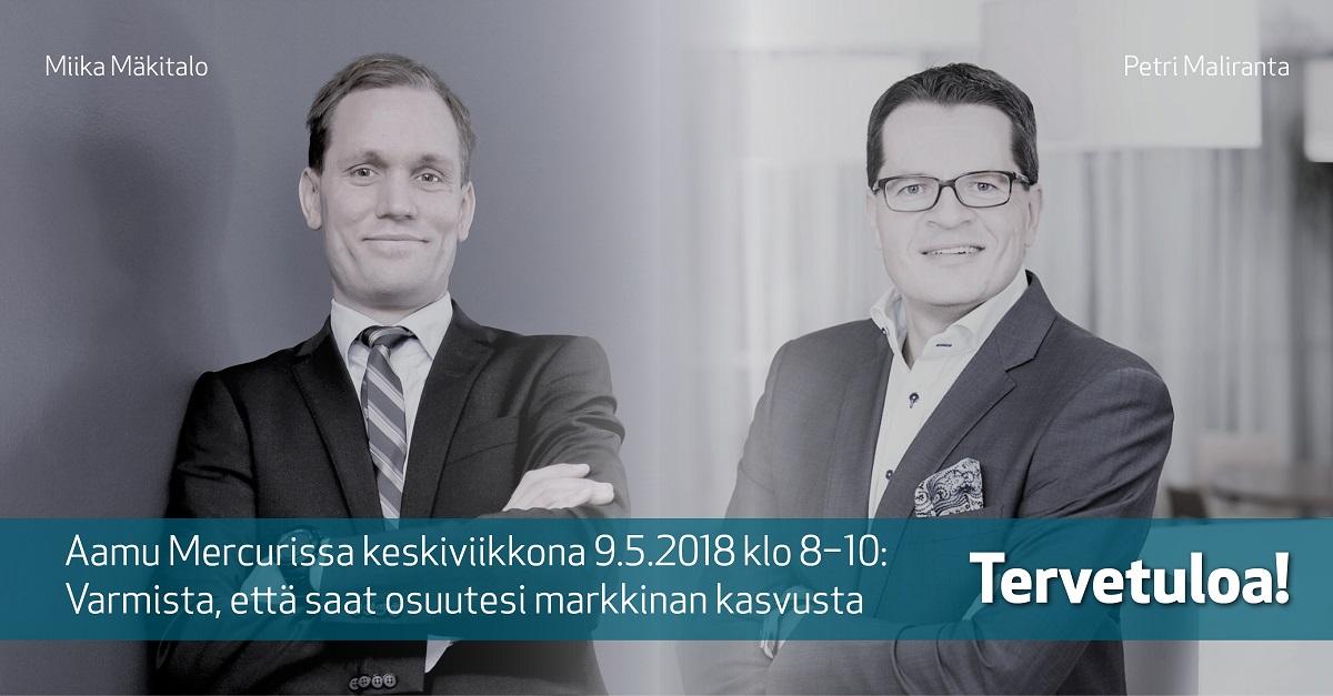Aamu Mercurissa 9.5.2018: Miika Mäkitalo ja Petri Maliranta